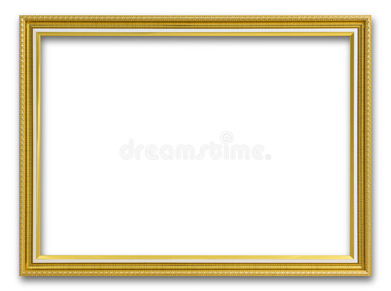 Gold Frame For Painting Or Picture On White Background. Stock Photo ...