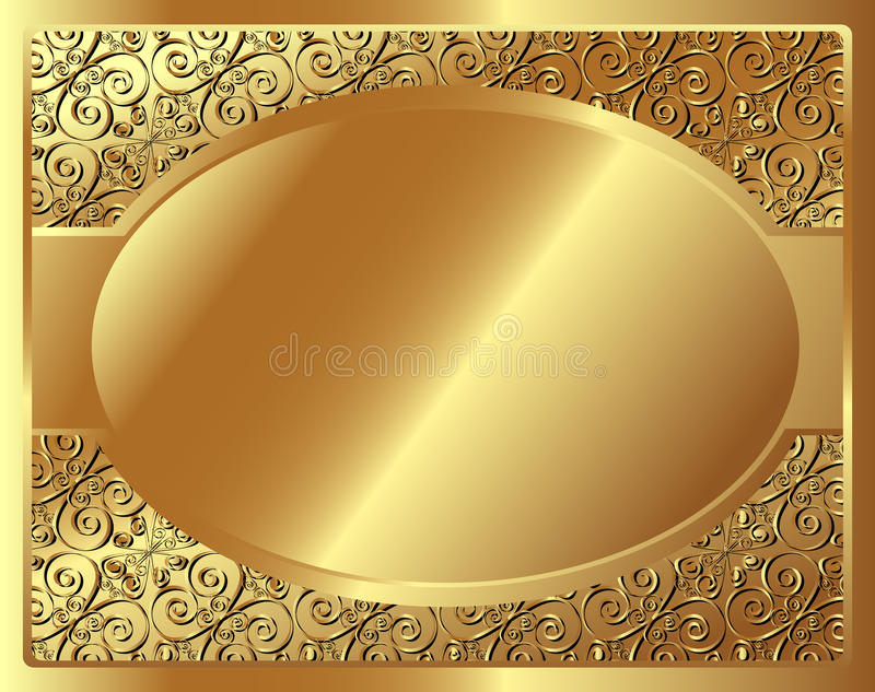 Download Gold frame with pattern stock vector. Image of illustration - 32022426