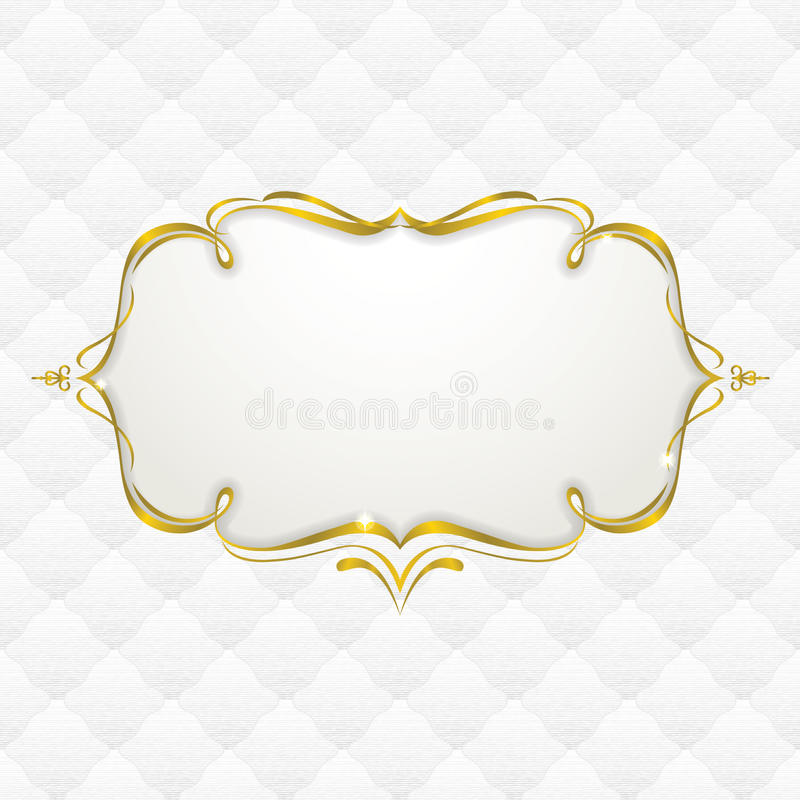 Download Gold Frame With Seamless Upholstery Texture Stock Vector - Image: 27072844