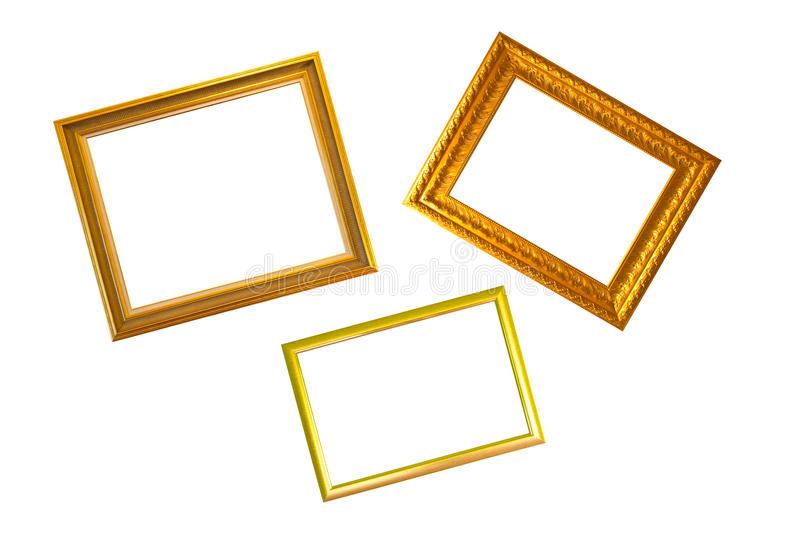 Download Gold Frame stock image. Image of space, isolated, three - 31242555