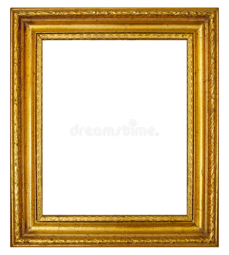 Free Gold Frame With Antique Moulding Royalty Free Stock Photography - 32221257