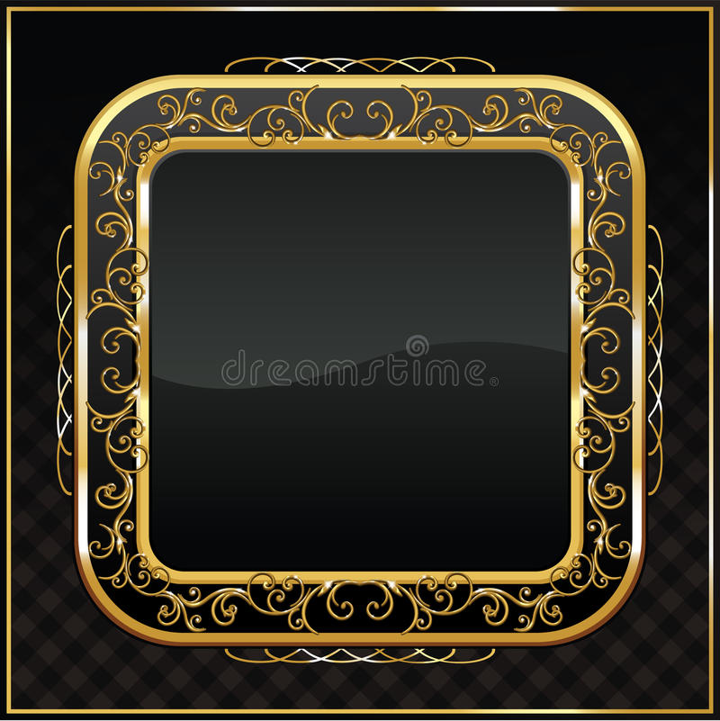 Download Gold framed labels stock illustration. Image of black - 17265756