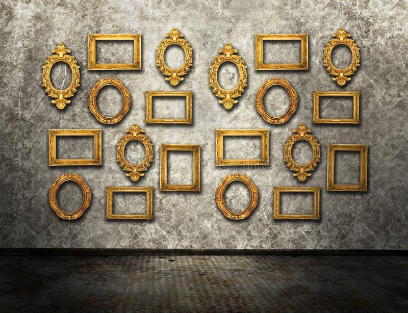 Gold frames stock images