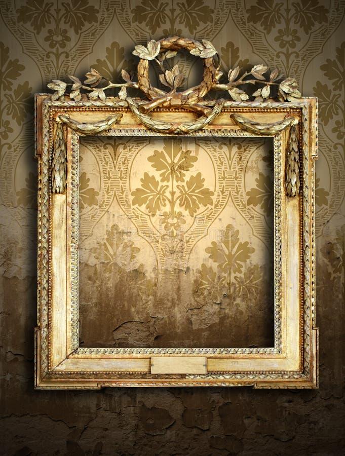 Download Gold Frames, Retro Wallpaper Royalty Free Stock Image - Image: 13278676