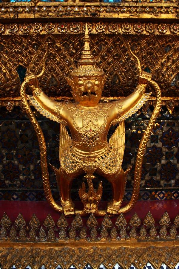 Gold Garuda royalty free stock image