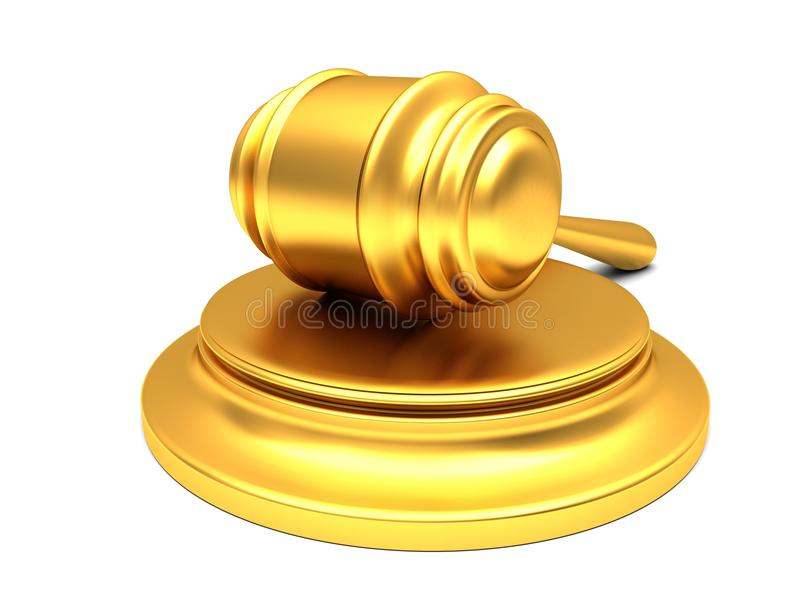 Download Gold gavel stock illustration. Image of hitting, freedom - 26561490