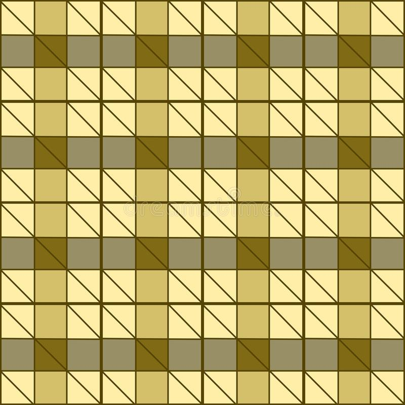 Gold geometric background with triangles and squares royalty free stock photo