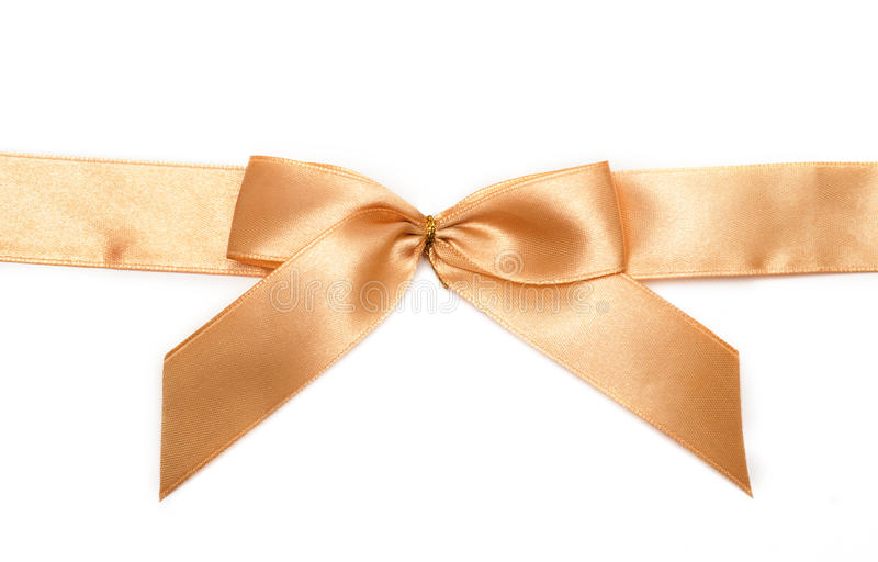 Gold gift bow stock photography