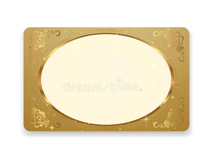 Gold Gift Coupon, Gift / Business / Discount Card Stock Vector ...
