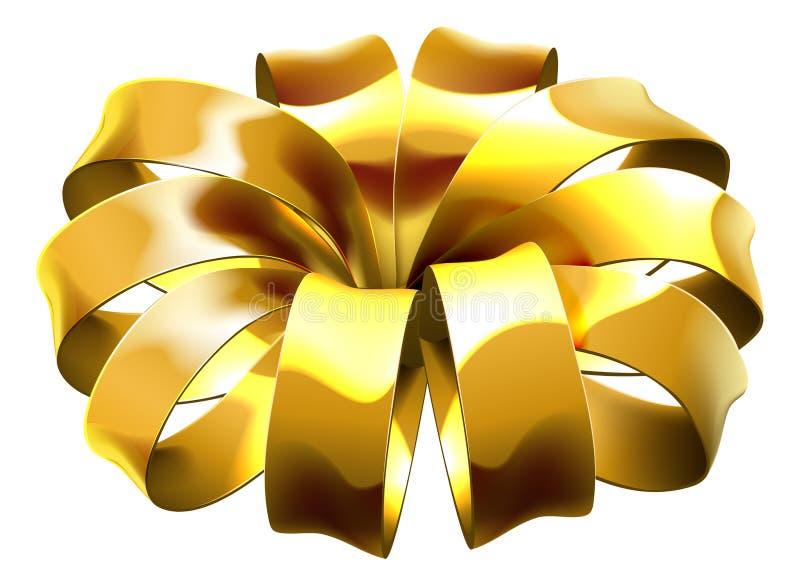 Gift Ribbon Golden Bow Wrap royalty free illustration