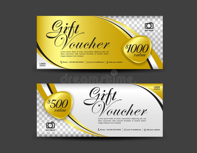 Gold gift voucher template coupon design gift certificate stock download gold gift voucher template coupon design gift certificate stock vector illustration of yelopaper Images