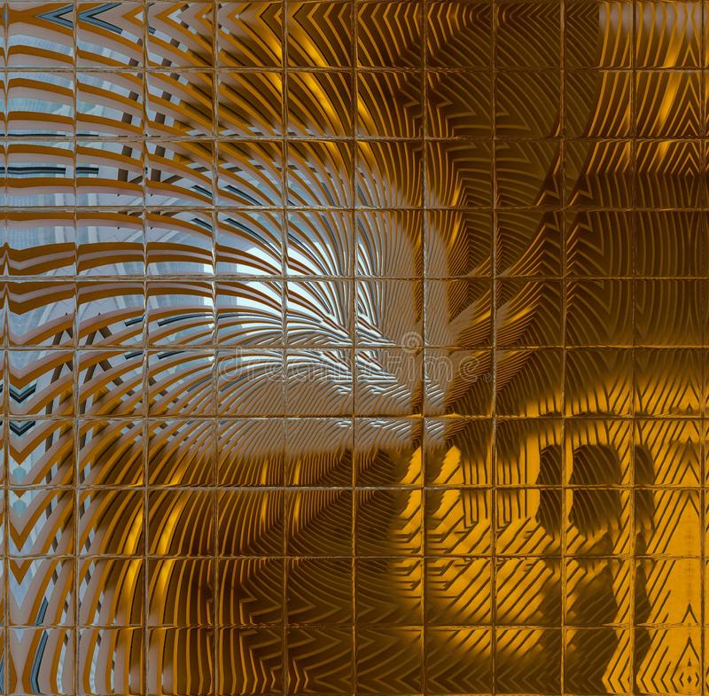 Gold Glass Abstract Art Backgrounds royalty free illustration