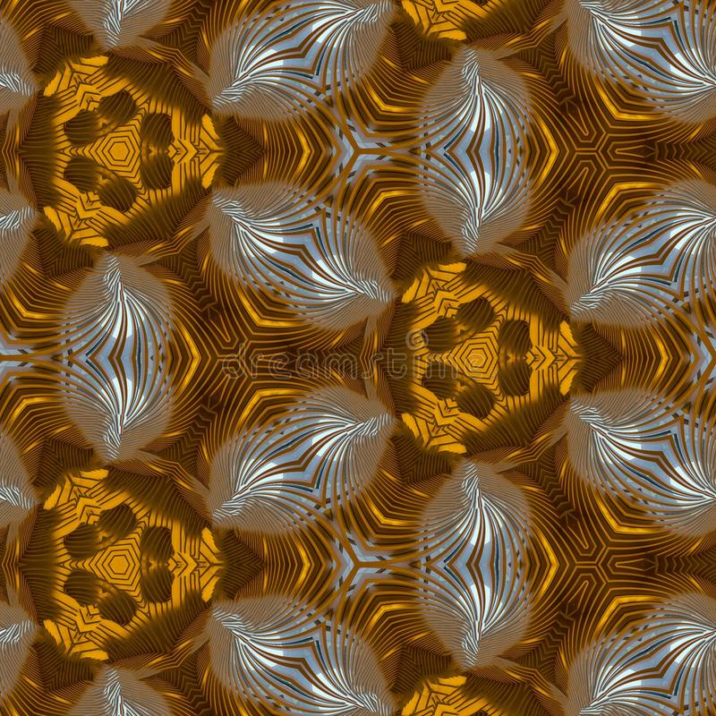 Gold Glass Abstract Art Backgrounds stock illustration