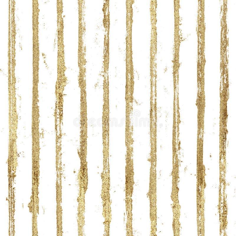 Gold gliterring shining stripe grunge seamless pattern. Golden stripes on black background. Gold gliterring shining stripe grunge seamless pattern. Golden stock photography