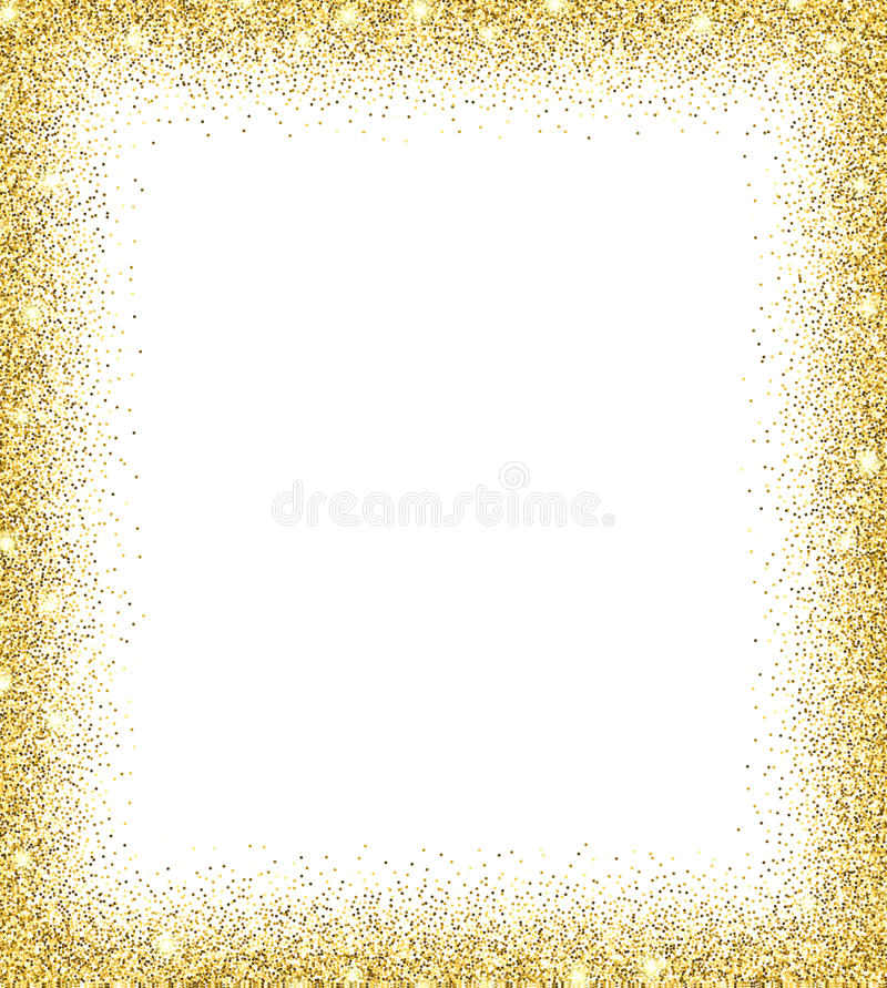 Gold Glitter Background Stock Vector Illustration Of