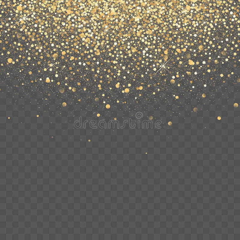 Free Gold Glitter Background. Star Dust Sparks Transparent Background Stock Photography - 94287532