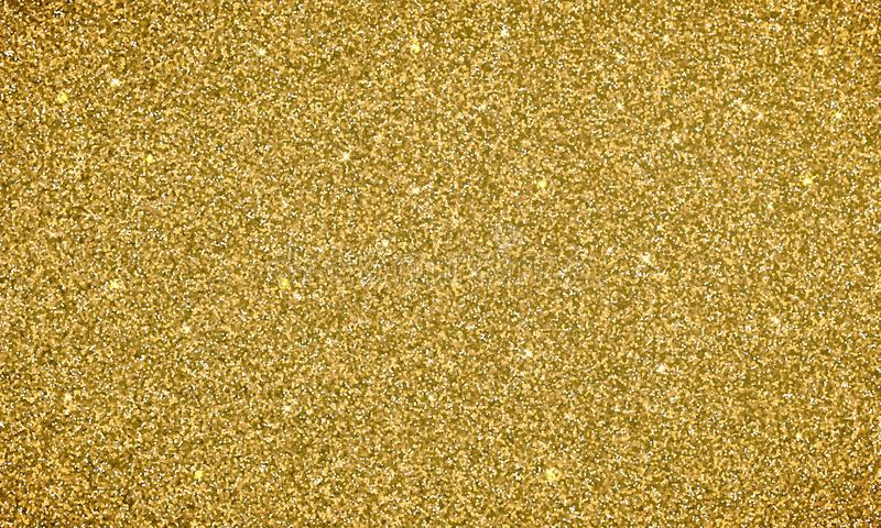 Gold glitter background texture banner. Vector glittery festive background for card or holiday Christmas backdrop royalty free illustration