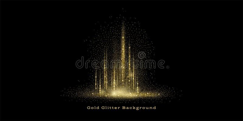 Gold Glitter Background royalty free illustration