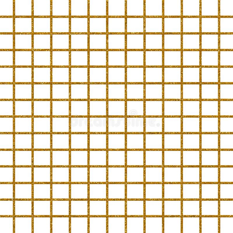 Gold glitter checked geometric pattern paper vector illustration