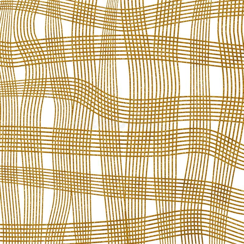 Gold Glitter Cross Hatch Paper Pattern vector illustration