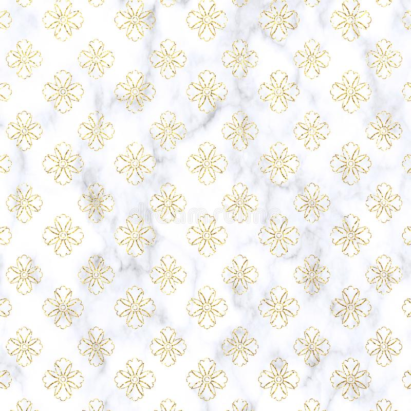 Gold Glitter damask on marble background. Gold, glitter texture. Gold glitter damask marble pattern. Gold marble Wallpaper vector illustration