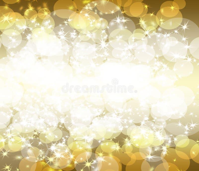 Gold glitter on a dark background. The best Happy Holiday background. Gold glitter on a dark background