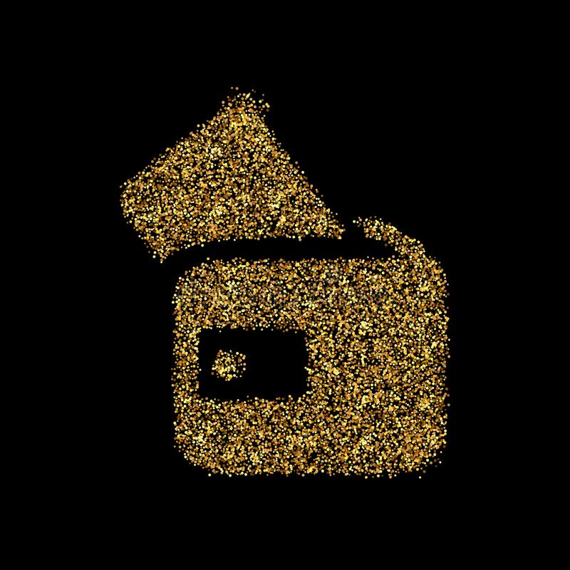 Gold glitter icon stock photography