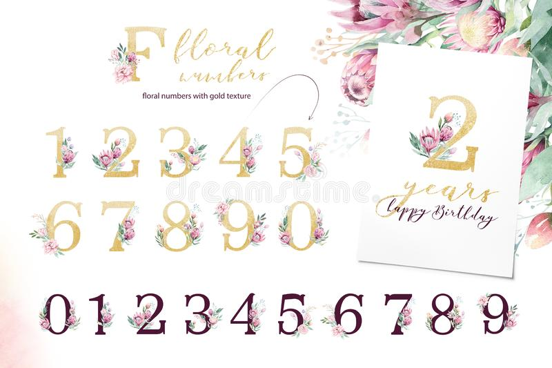Gold glitter letter alphabet. Isolated Golden alphabetic fonts and numbers on white background. Floral wedding font text. Gold glitter letter alphabet. Isolated stock images