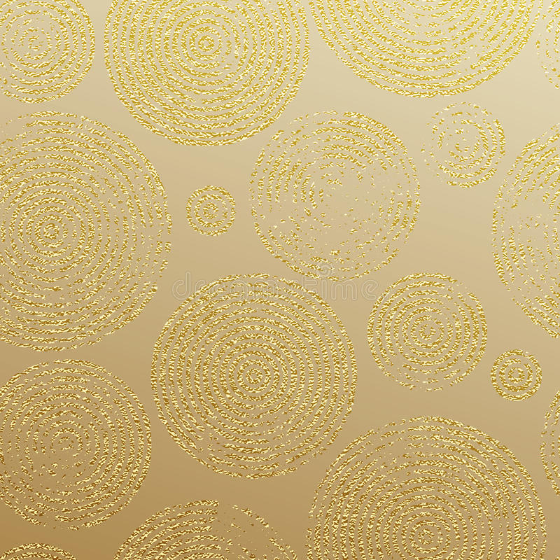 Seamless Pattern For Luxury Modern Interior Wallpaper Tile Backdrop Gold Textured Imprints In Circular Decorative Shape