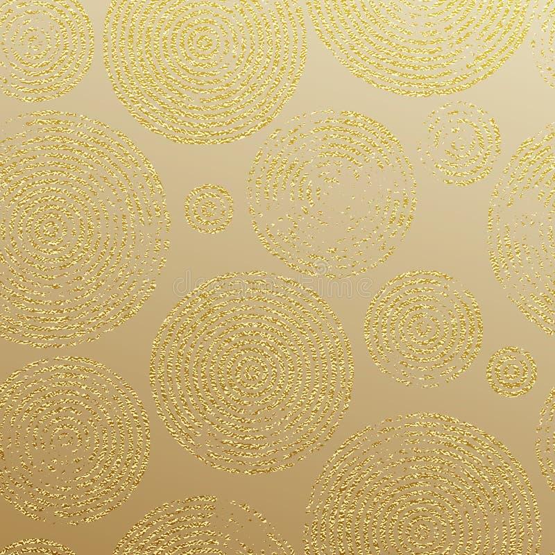 Gold Glitter Rings Luxury Seamless Pattern Wallpaper Stock ...
