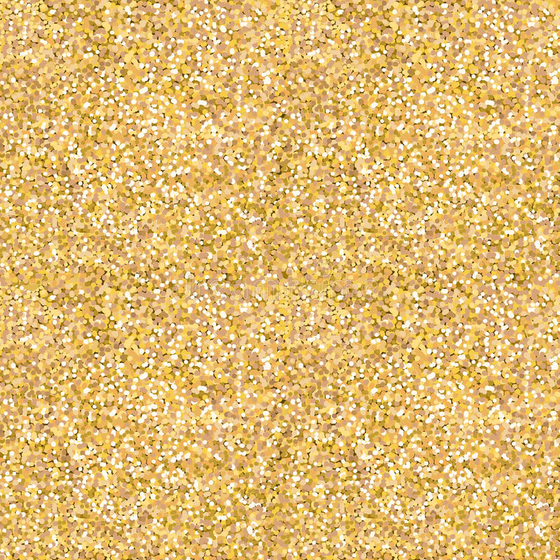 Gold glitter shine texture. Abstract golden background stock illustration