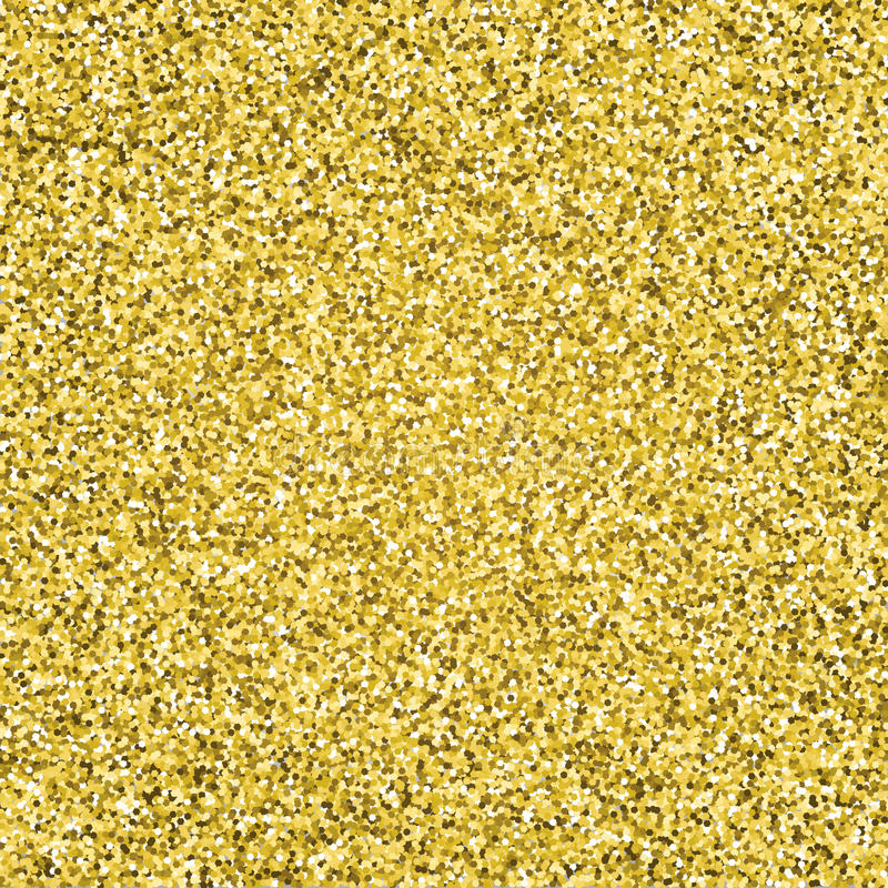 Gold glitter sparkling pattern. Decorative seamless background. Shiny glam abstract texture. Tile sparkle golden confetti backdrop stock illustration
