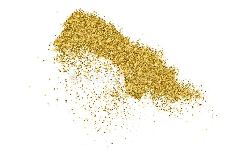 Gold Glitter Texture. royalty free stock image
