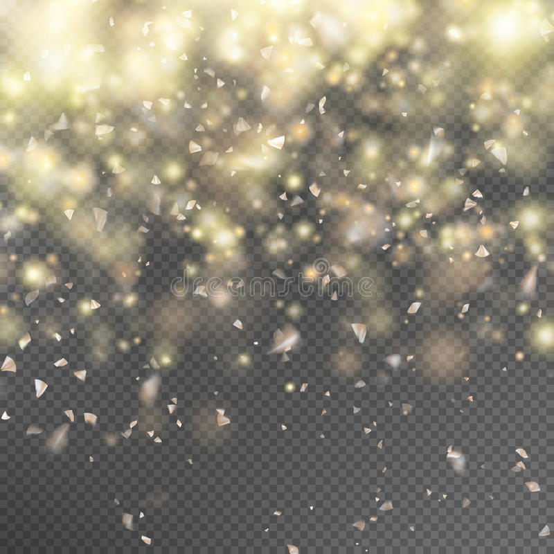 Gold glitter on transparent background. EPS 10 royalty free illustration
