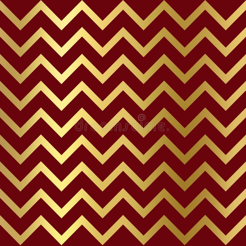 Gold glitter zigzag on burgundy background, Gold texture. Gold glitter zigzag burgundy pattern. Gold glitter burgundy Wallpaper vector illustration