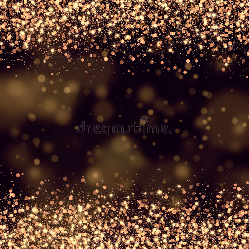 Gold glittering bokeh abstract vector illustration