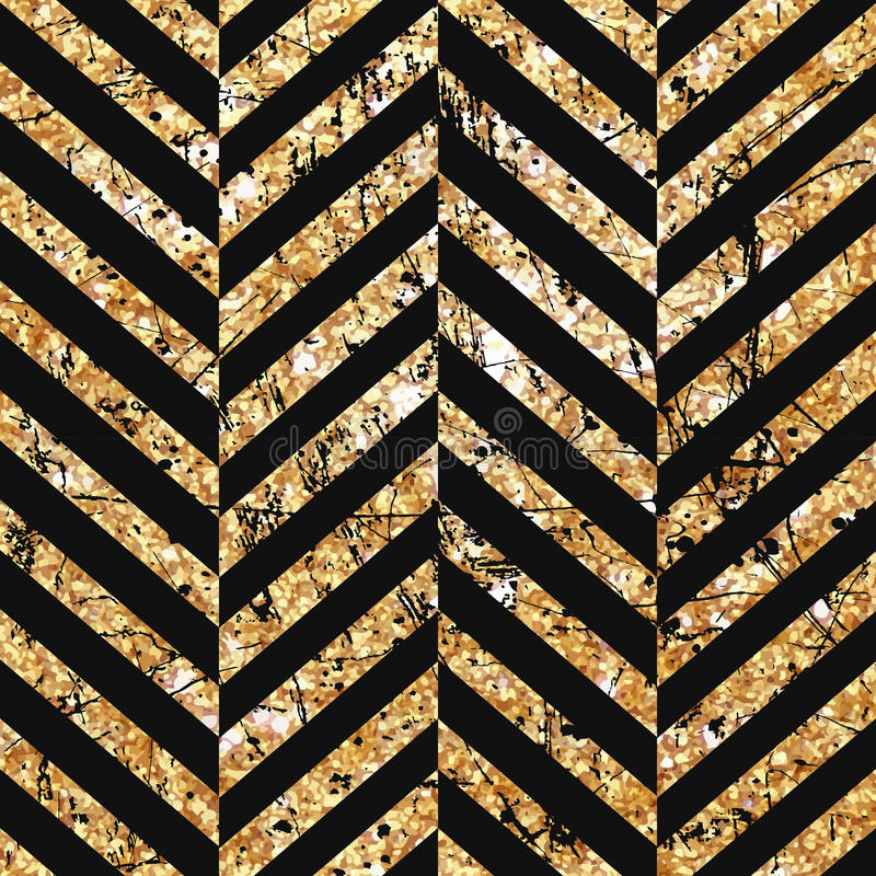 Gold glittering diagonal lines pattern on black background. Classic pattern. Vector design royalty free stock photos