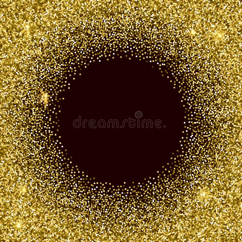 Gold glittery texture. Sparkle golden vector background royalty free illustration