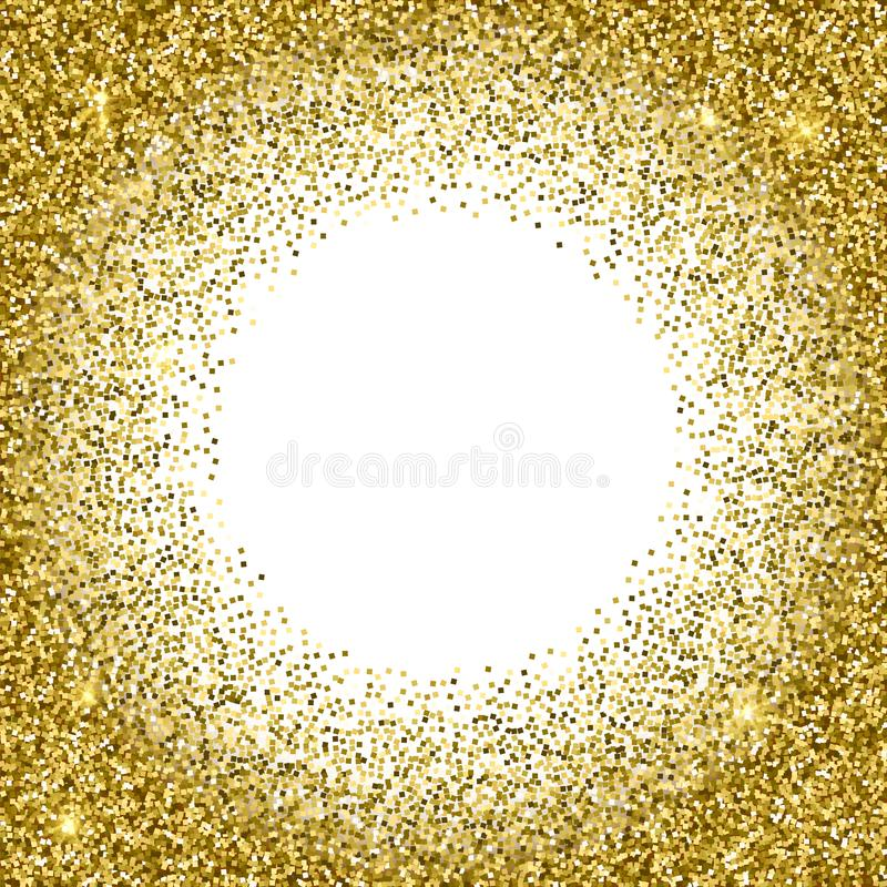 Gold glittery texture. Sparkle golden vector background vector illustration