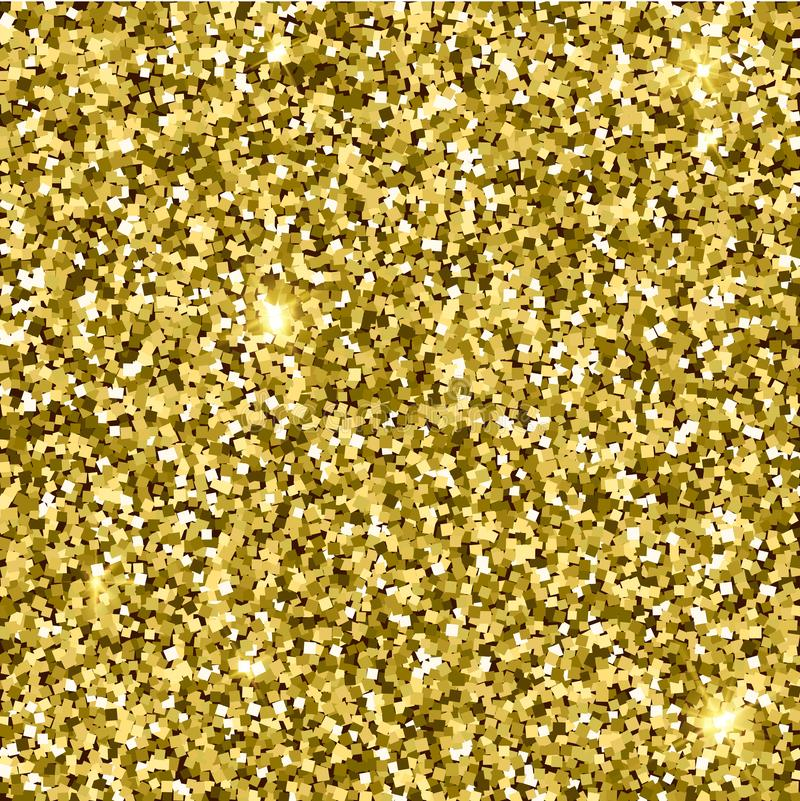 Gold glittery texture. Sparkle golden vector background stock illustration