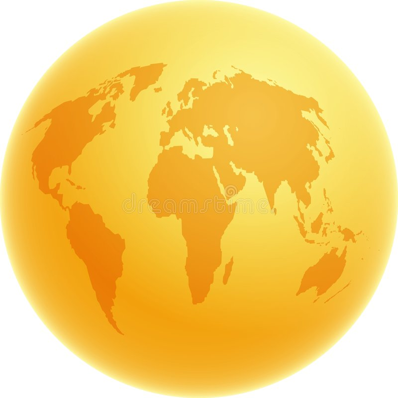 Download Gold Globe stock illustration. Image of golden, america - 29355