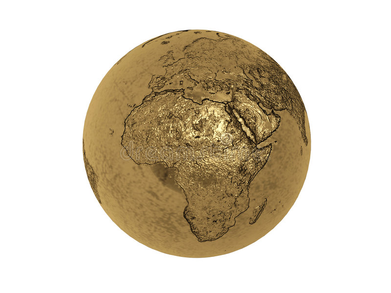 Gold globe stock illustration