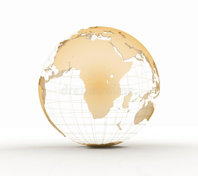 Gold globe art stock illustration