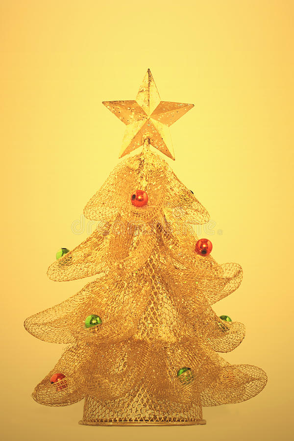 Download Gold, Glowing Christmas Tree Stock Photo - Image: 22377102