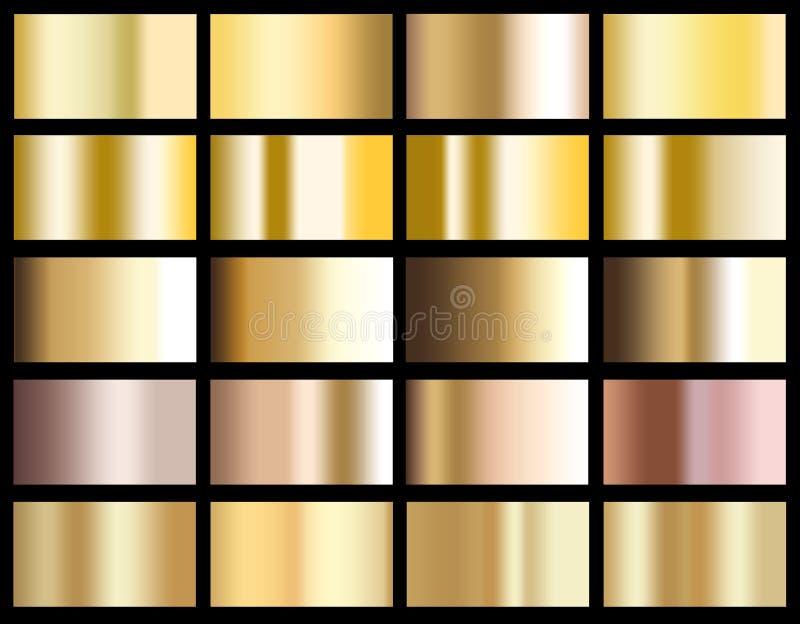 Gold gradient background icon texture metallic illustration for vector illustration