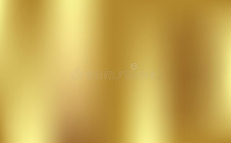Gold gradient background vector icon texture metallic. Golden background vector illustration. stock illustration
