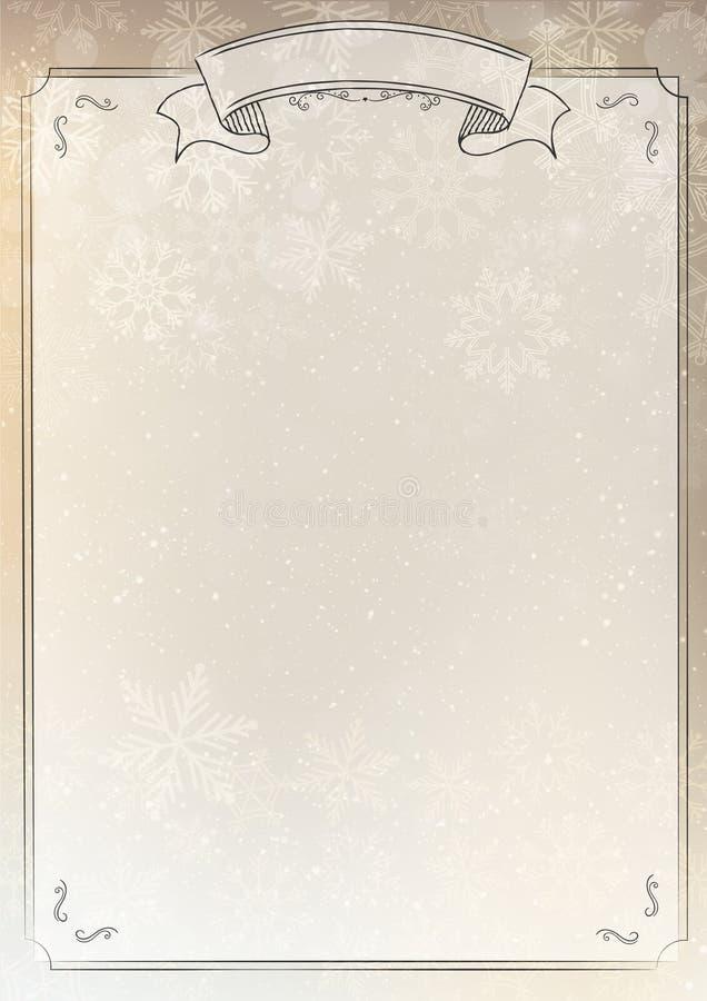gold gradient paper winter background stock vector