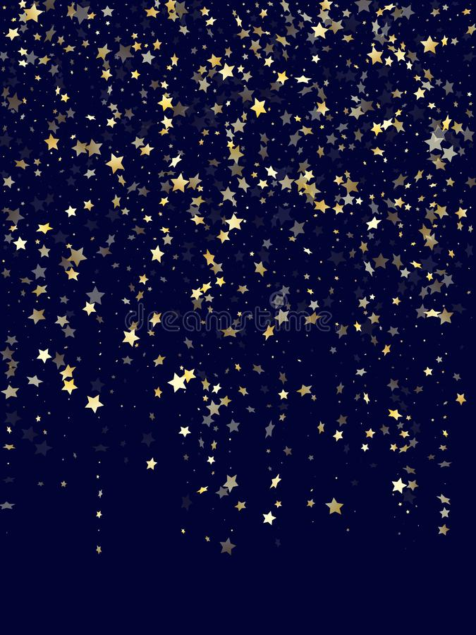 Gold gradient star dust sparkle vector background royalty free stock images