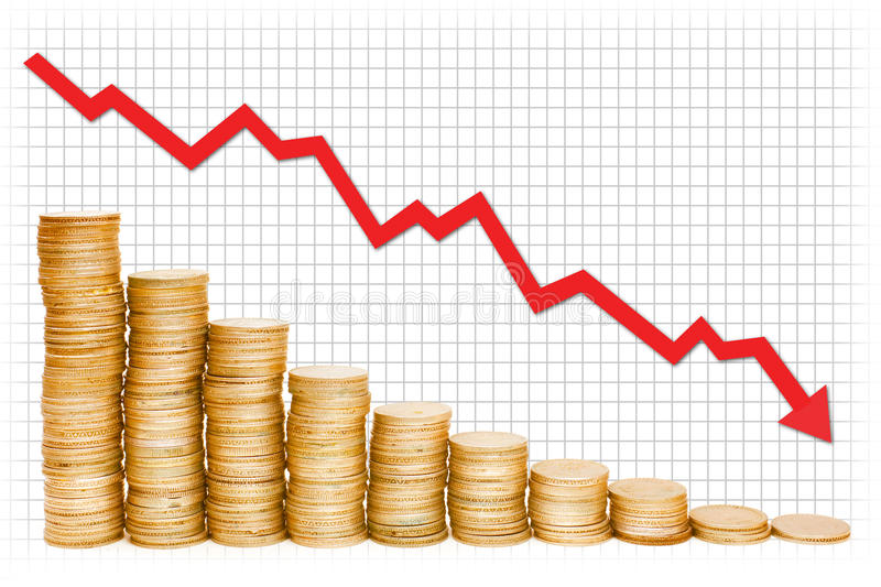Gold Graph royalty free stock photo