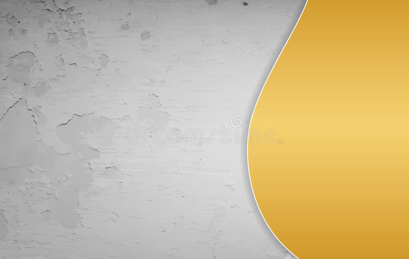 Gold and grey grunge background vector illustration